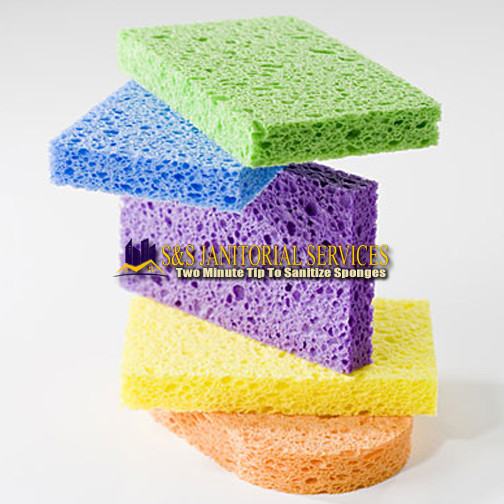 Two Minute Tip To Sanitize Sponges